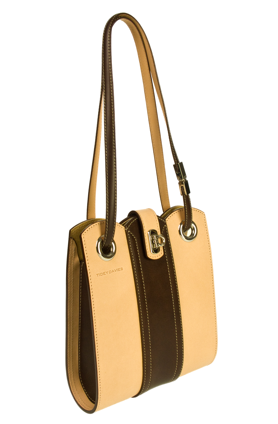 CL0808 Brown and Natural Curvi-Linear Bag